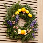 wreath on door deposit photos