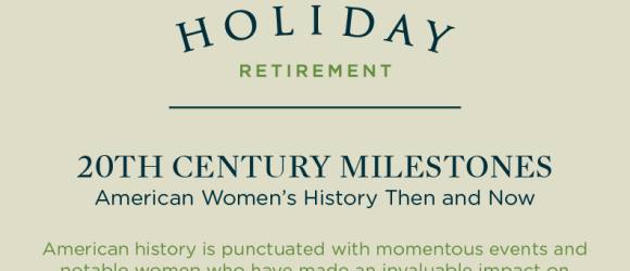 infographic on 20th century Milestones for Women