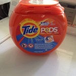 image of Tide Pods package atop a washing machine