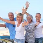 4 senior citizens on holiday