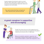 infographic listing the personality traits of a good caregiver