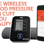 an image of a blood pressure cuff beside a smart phone
