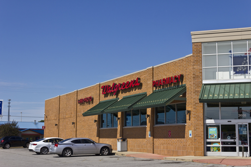 a picute of the outside of Walgreens Pharmacy