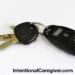car keys on white