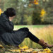Young woman having autumn depression and